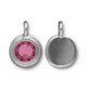 Tourmaline Pink Crystal Charm, both sides shown