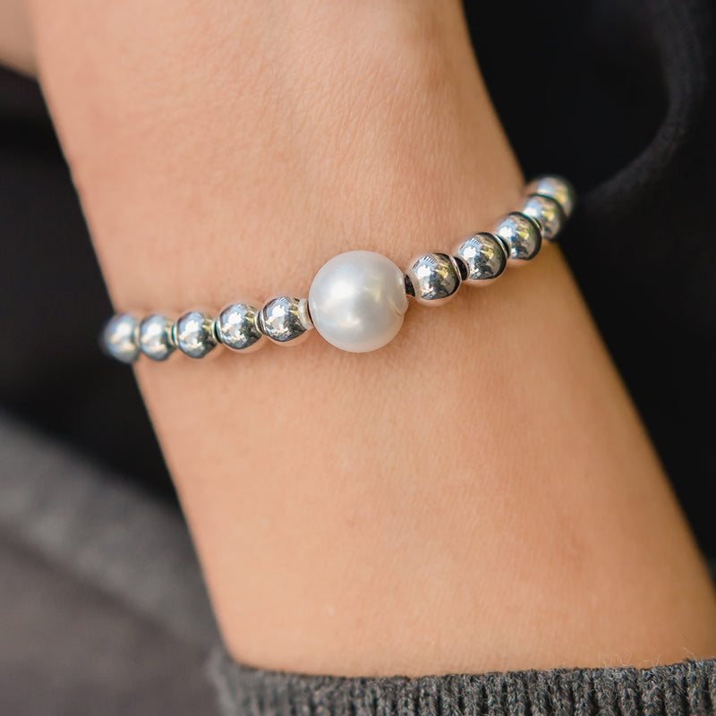 LIMITED EDITION Delight Sterling Silver Adjustable Bracelet with Freshwater Pearl
