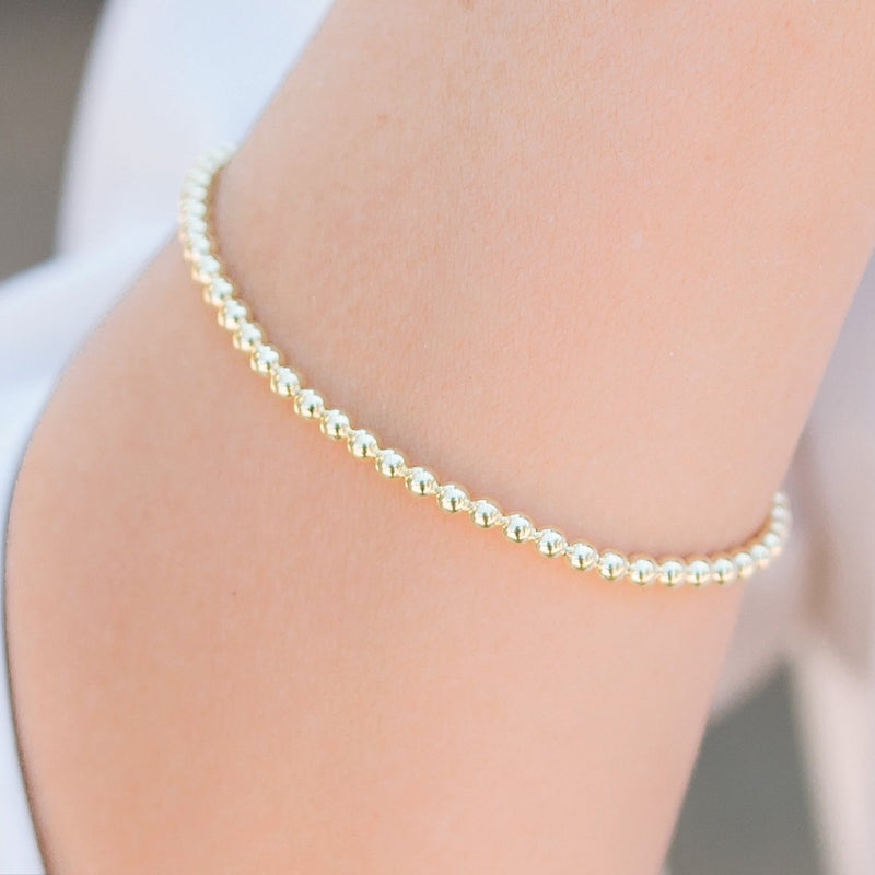 Ziggy Sterling Silver in Gold Vermeil Stretch Bracelet
