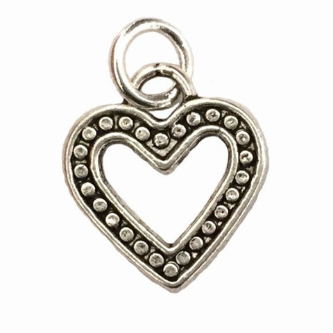 dotted heart charm