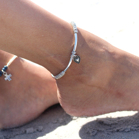 Kiko Anklet with Eternal Heart Charm