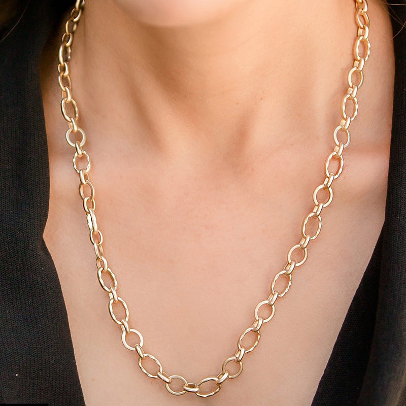 Laguna Adjustable Matte Gold Chain Necklace