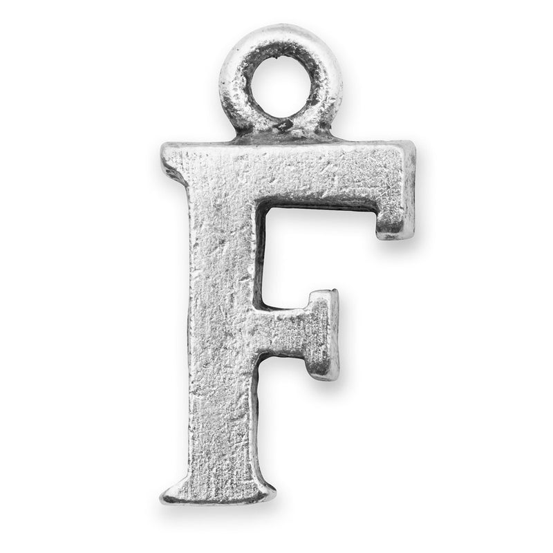 Silver Initial F Charm