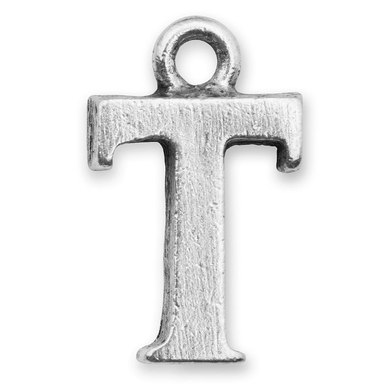 Silver Initial T Charm