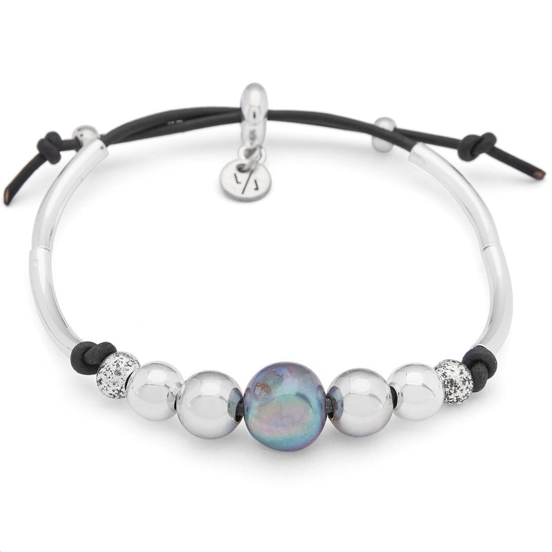 Mila Adjustable Bracelet with Freshwater Pearl