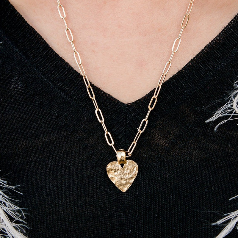 Amore Gold Heart Chain Adjustable Necklace