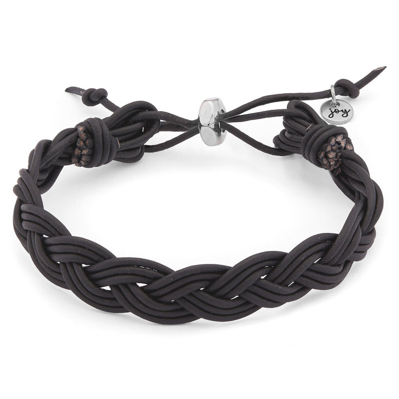 River Adjustable Braided Leather Bracelet
