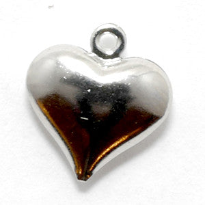 Silver Heart Charm For Lizzy James Charm Bracelets