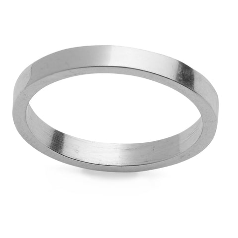 Smooth Sterling Silver Ring band