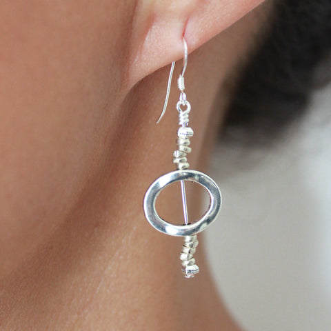 Solo Oval Earrings