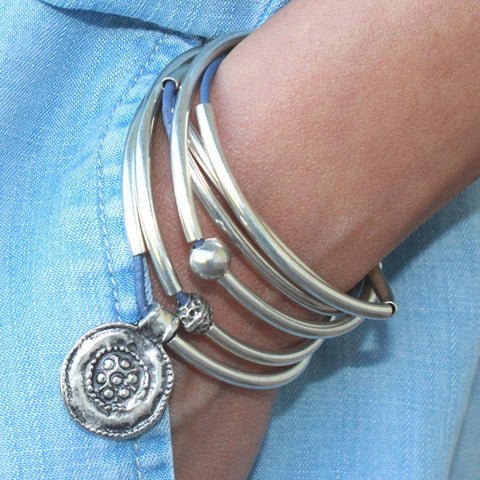 Summer leather wrap bracelet necklace, comes as shown
