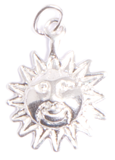 Sterling Silver Sun Charm (orig. $28)