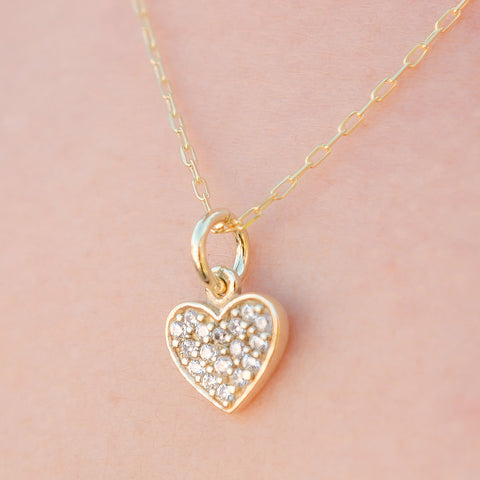Sweet Temptation Gold Vermeil Heart Necklace