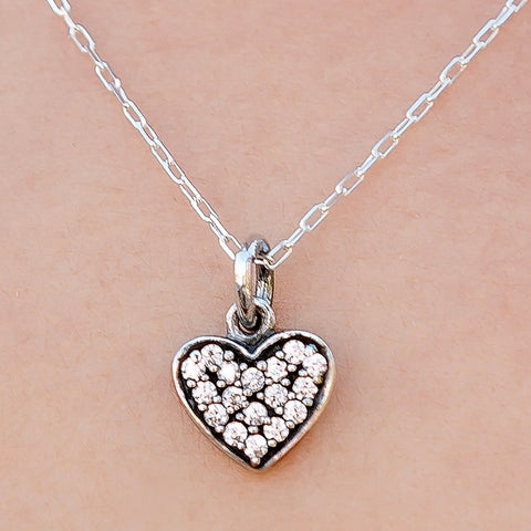Sweet Temptation Sterling Silver Heart Necklace