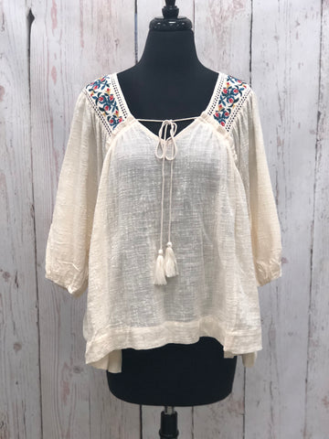 Emery Embroidered Top