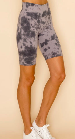 Cloud Tie Dye Biker Shorts