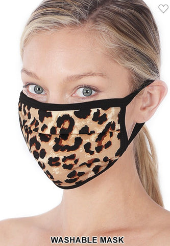 Leopard washable mask