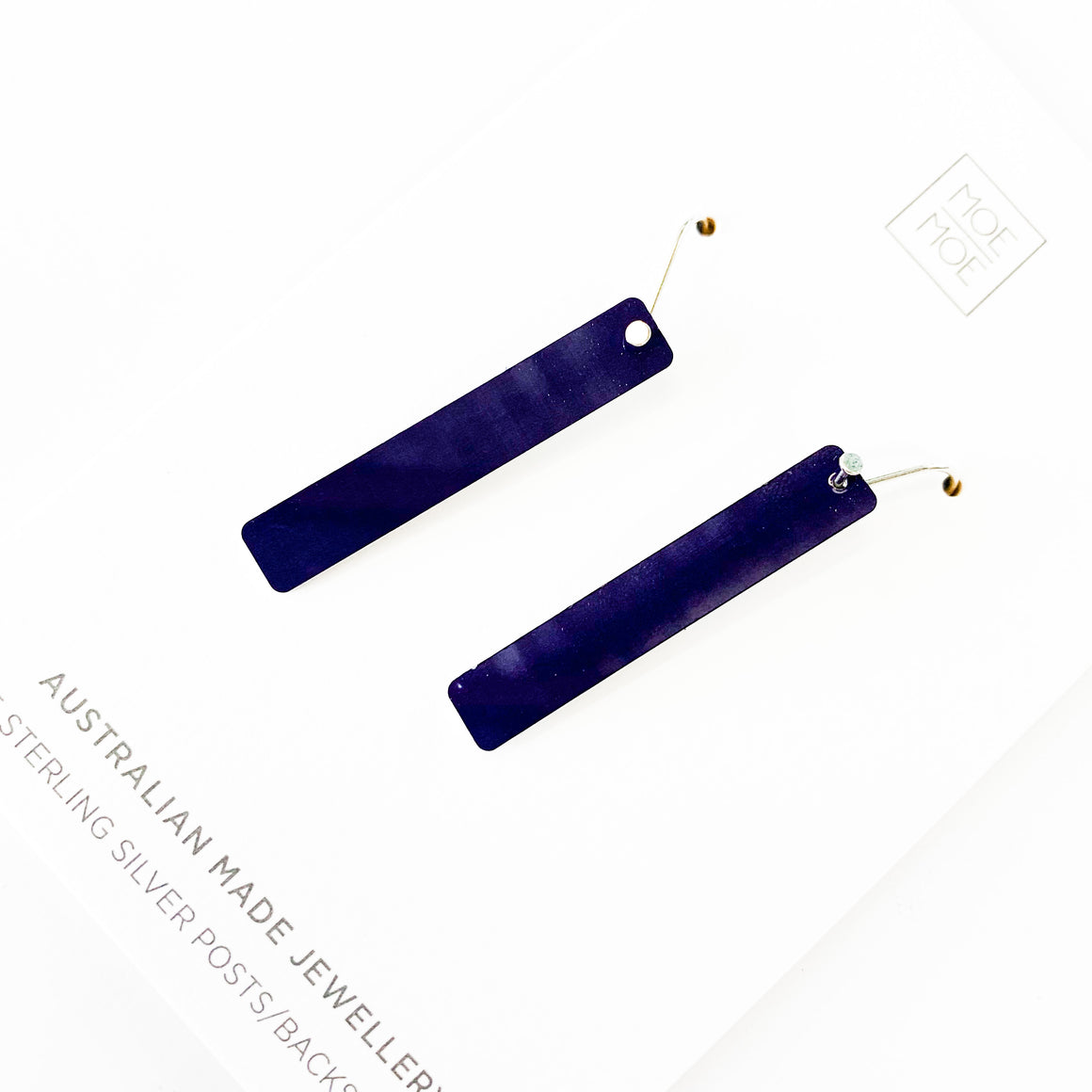 Navy Blue Small Bar Drops - OUTLET