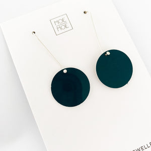 Deep Green Circle Long Drops - OUTLET