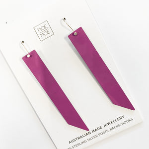 Violet Thick Angled Bar Drops - OUTLET