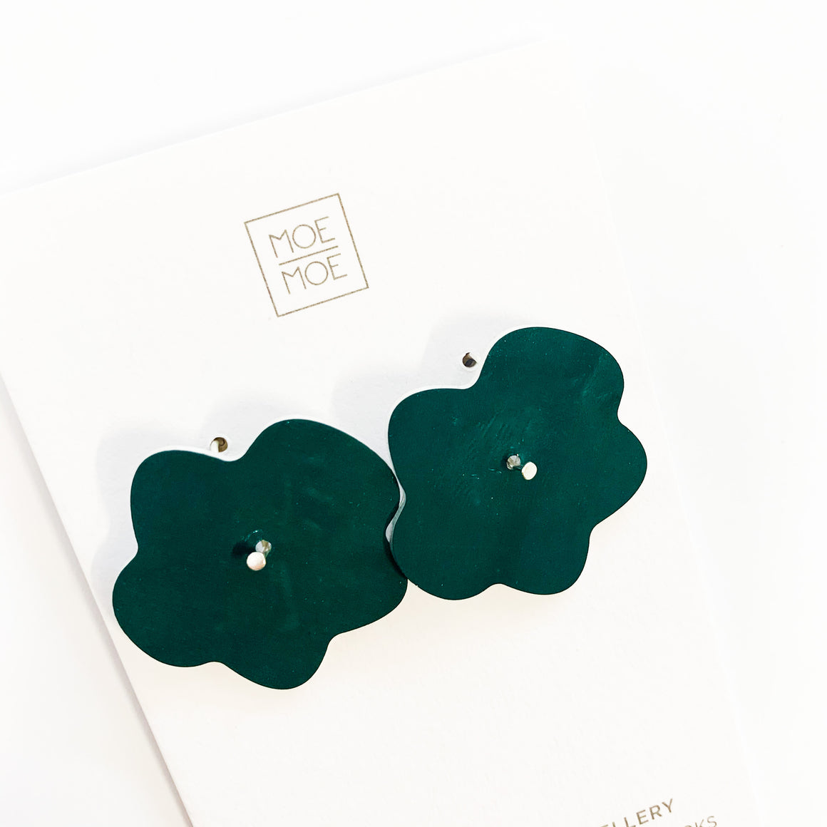 Deep Green Medium Flower Drops - OUTLET