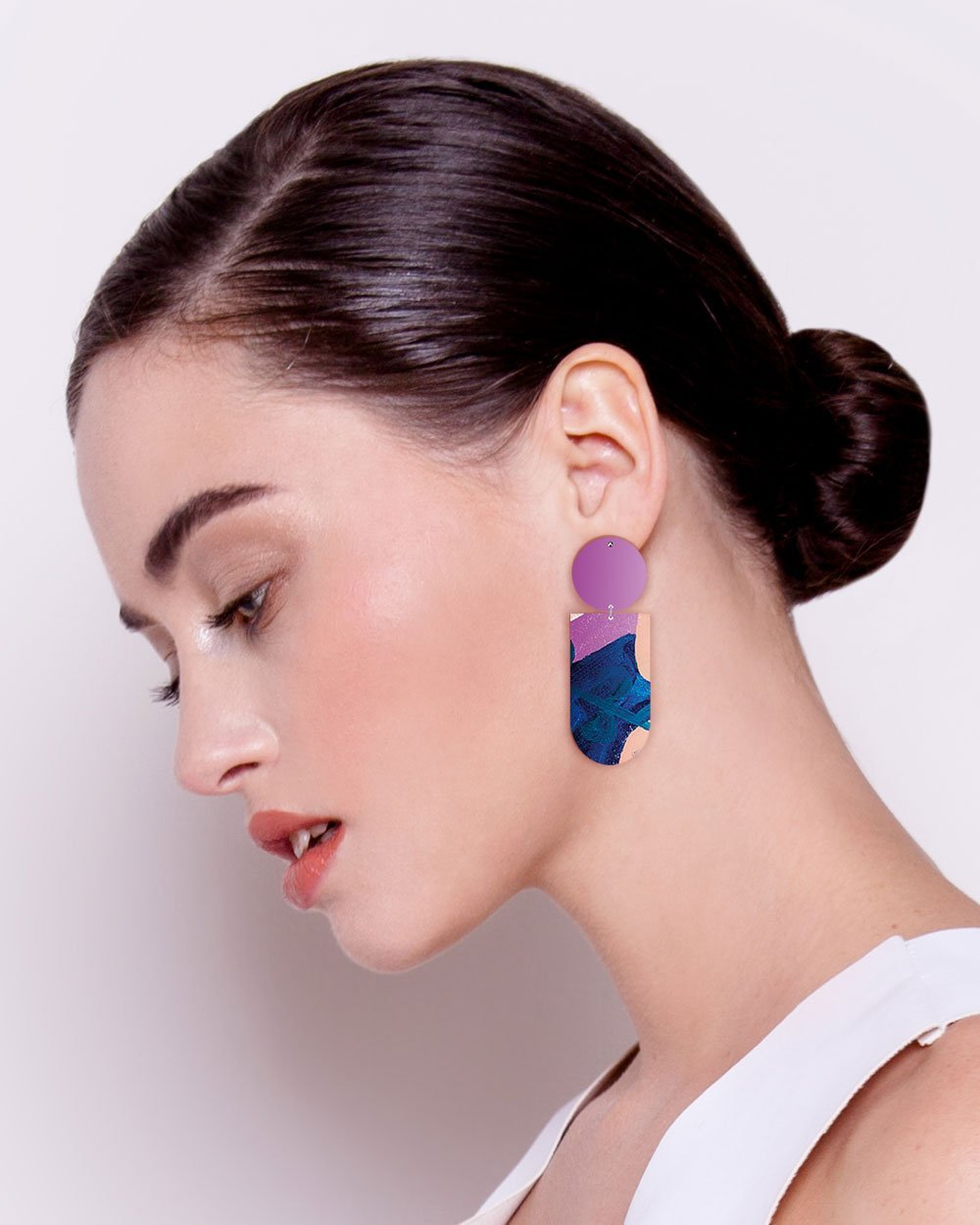 Wild Kate Mayes Asymmetrical Tab Stud Earrings
