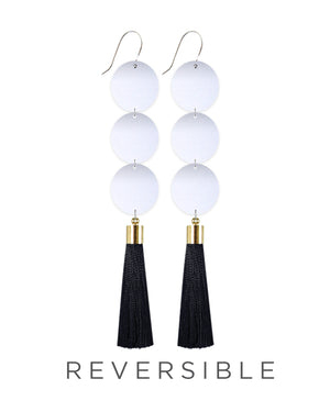 Speckles Pattern Big Tassel Drop Earrings