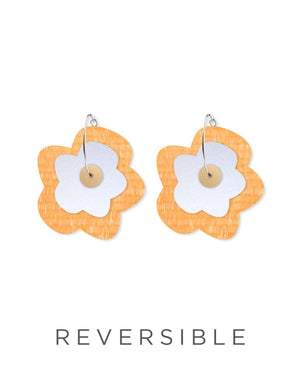 Juane Candice Perese Layered Big Flower Hoop Earrings