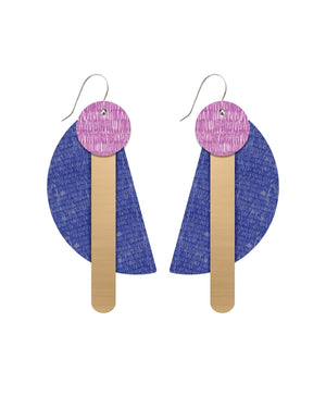 Lavender Candice Perese Mega Stack Earrings