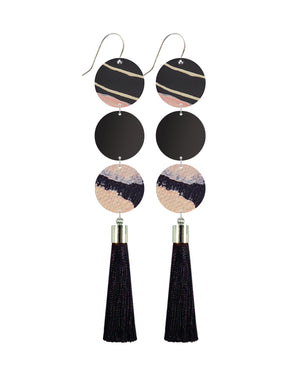 Community Miimi and Jiinda Big Tassel Drop Earrings