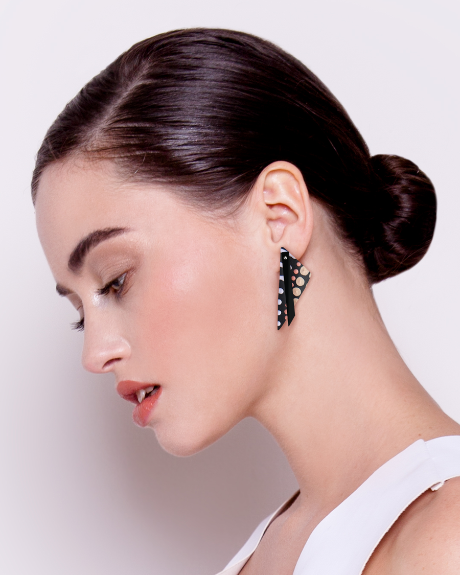 Community Miimi and Jiinda Layered Big Triangle Stud Earrings