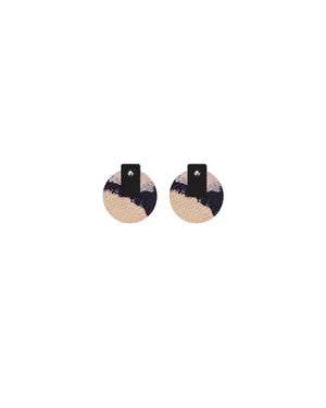 Community Miimi and Jiinda Layered Medium Circle Stud Earrings