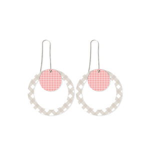 Date Night Layered Circle Outline Long Drop Earrings