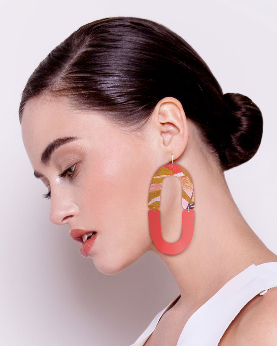 Flossy Kate Mayes Double Arch Drop Earrings
