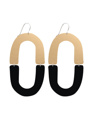 Signature Double Arch Drop Earrings