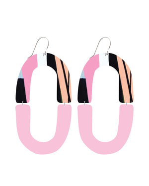Sky Joan Blond Double Arch Drop Earrings