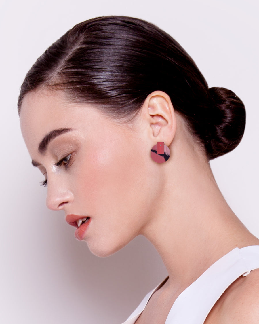 Dreaming Miimi and Jiinda Layered Medium Circle Stud Earrings