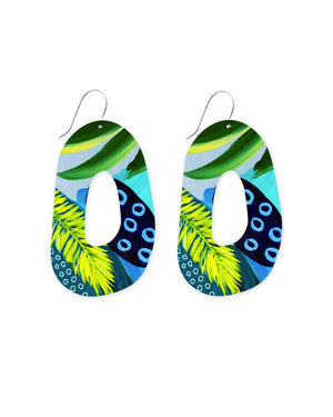 Reversible Earth Joan Organic Shape Drop Earrings