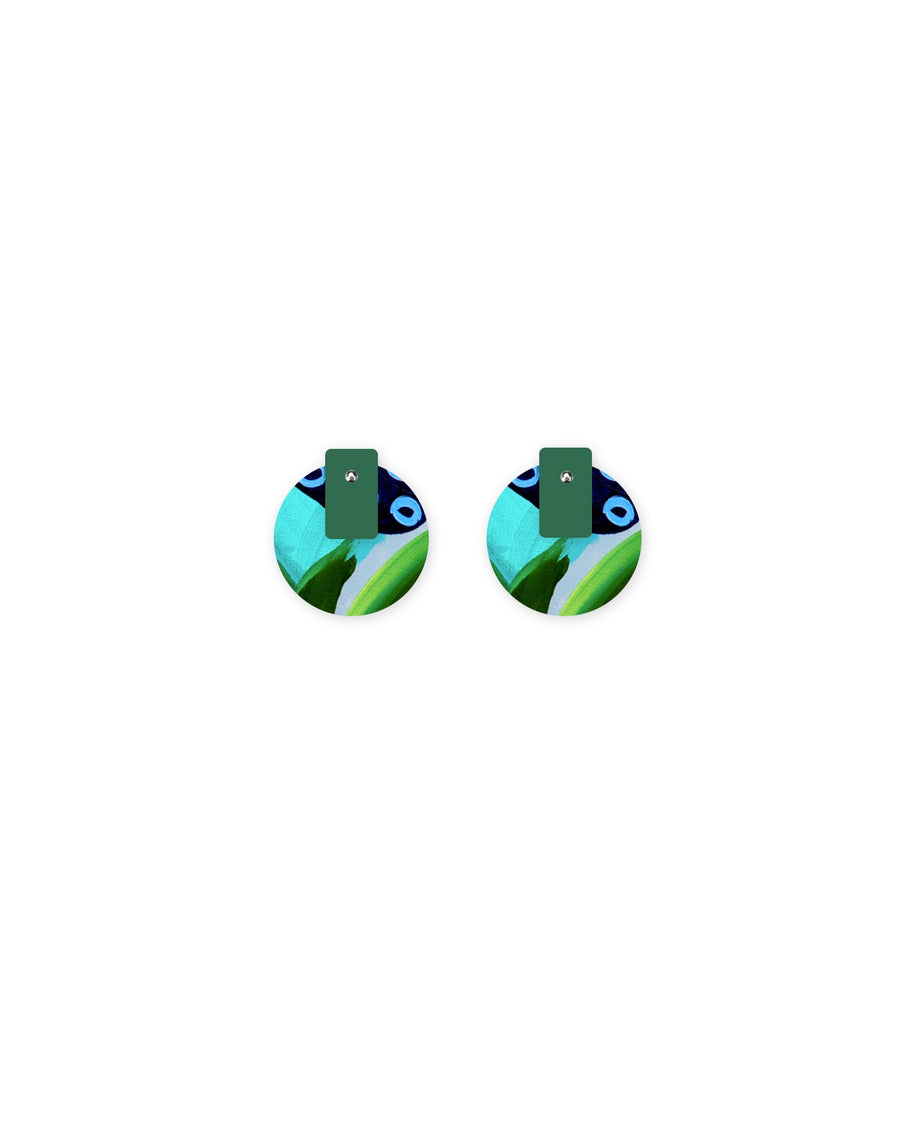 Reversible Earth Joan Layered Medium Circle Stud Earrings