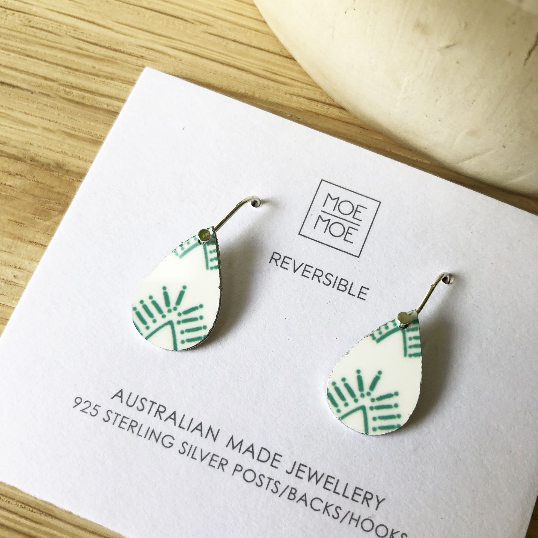 Summer Festive Green Mini Tear Drop Earrings