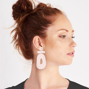 Flaxen Clay Organic Statement Stud Earrings
