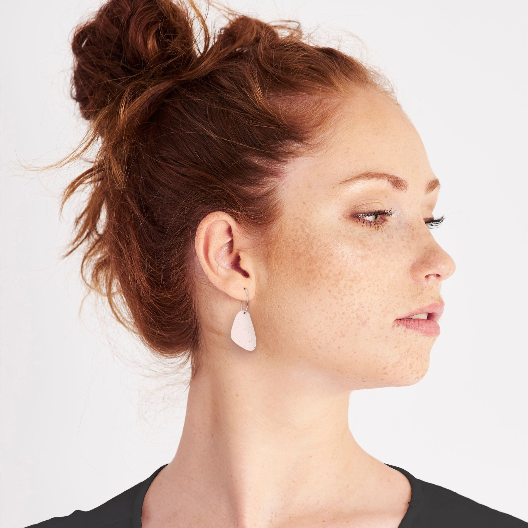 Flaxen Clay Pippi Hoop Earrings