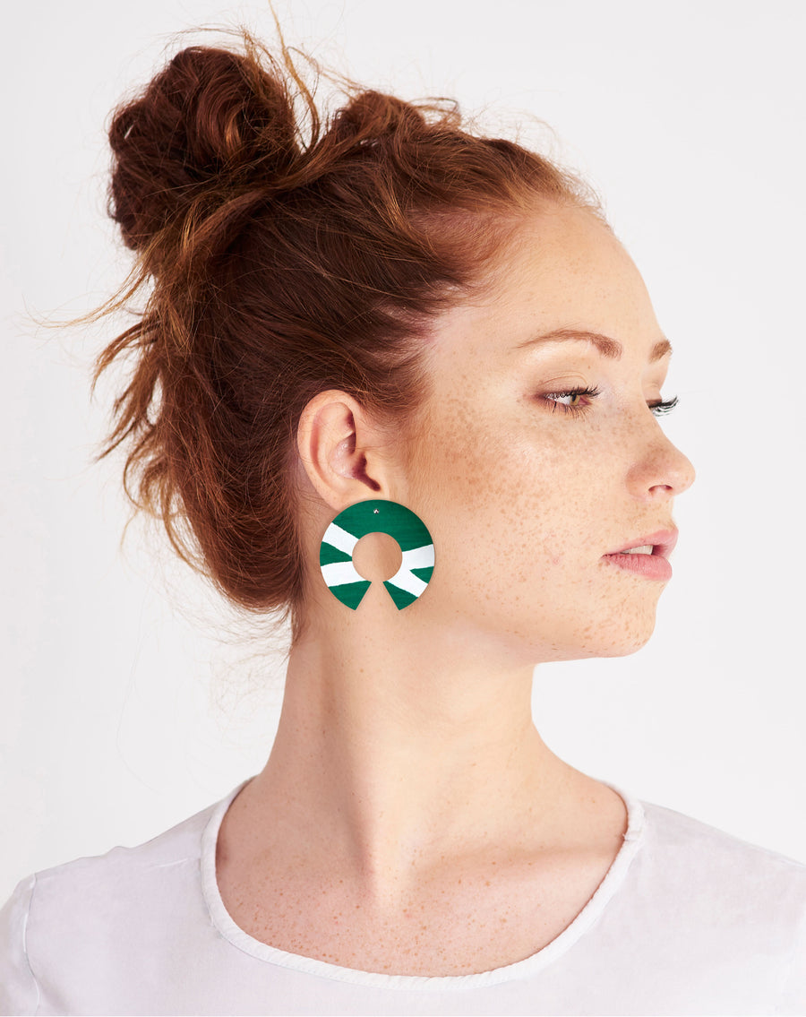 Reversible Earth Joan Big Halo Stud Earrings