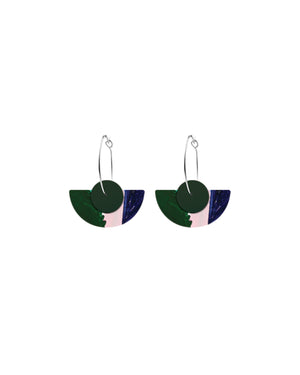 Hero Kate Mayes Layered Medium Moon Hoop Earrings