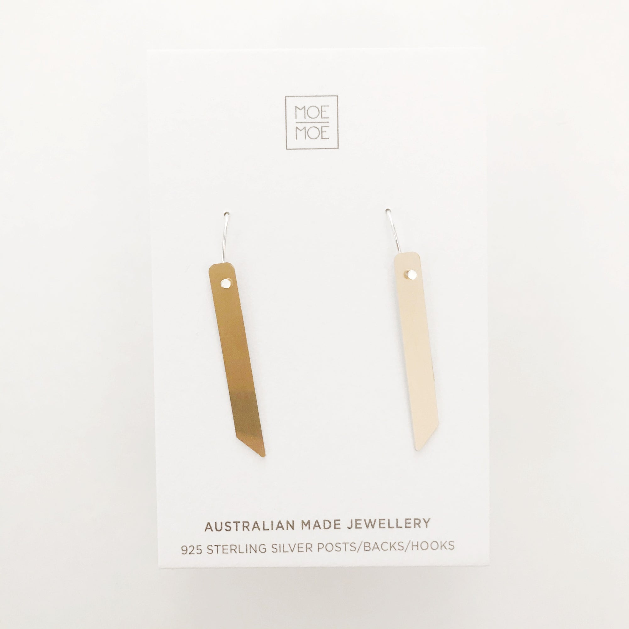 Mirrored Gold Angled Bar Drops