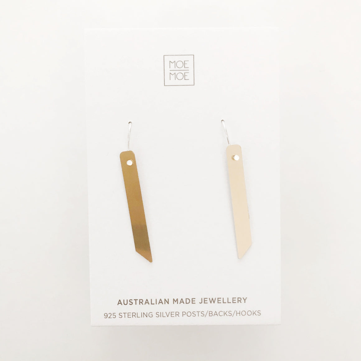 Mirrored Gold Angled Bar Drops - OUTLET