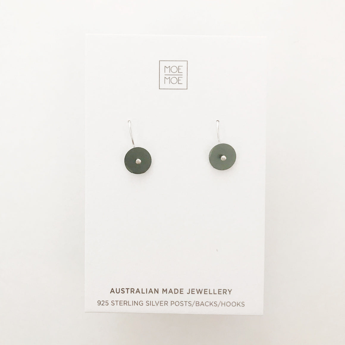 Metallic Dark Green Mini Circle Drops - OUTLET