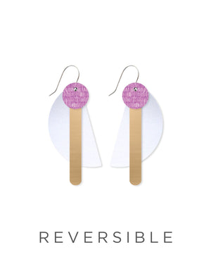 Lavender Candice Perese Petite Stack Earrings