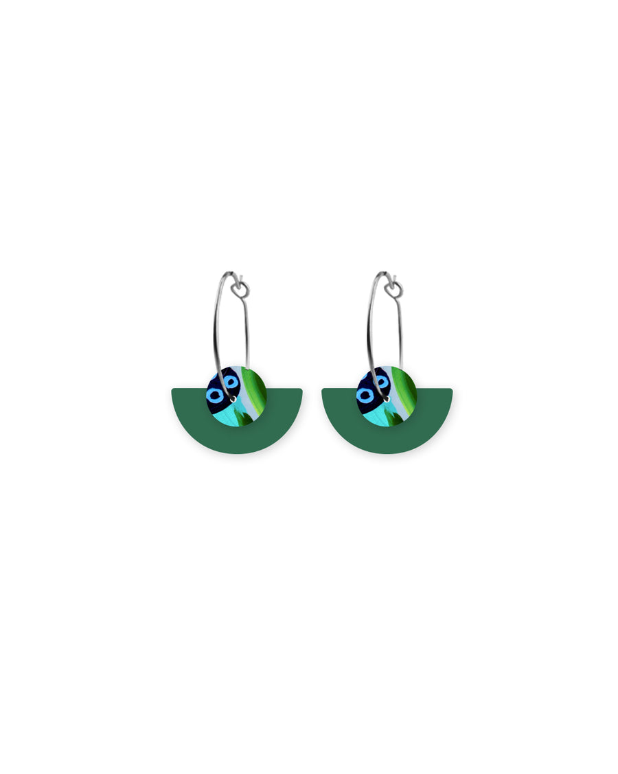 Reversible Earth Joan Layered Medium Moon Sleeper Earrings