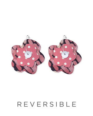 Dreaming Miimi and Jiinda Layered Big Flower Hoops Earrings